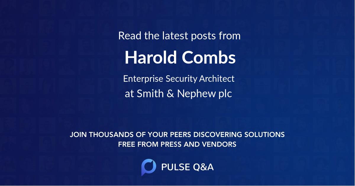 Harold Combs