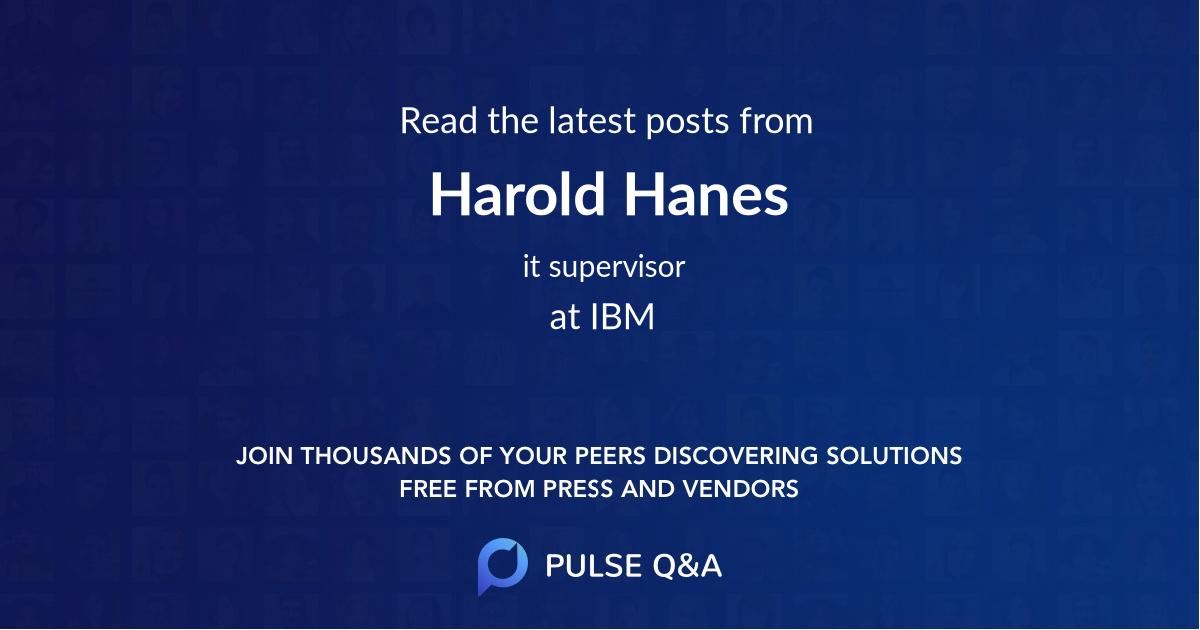 Harold Hanes