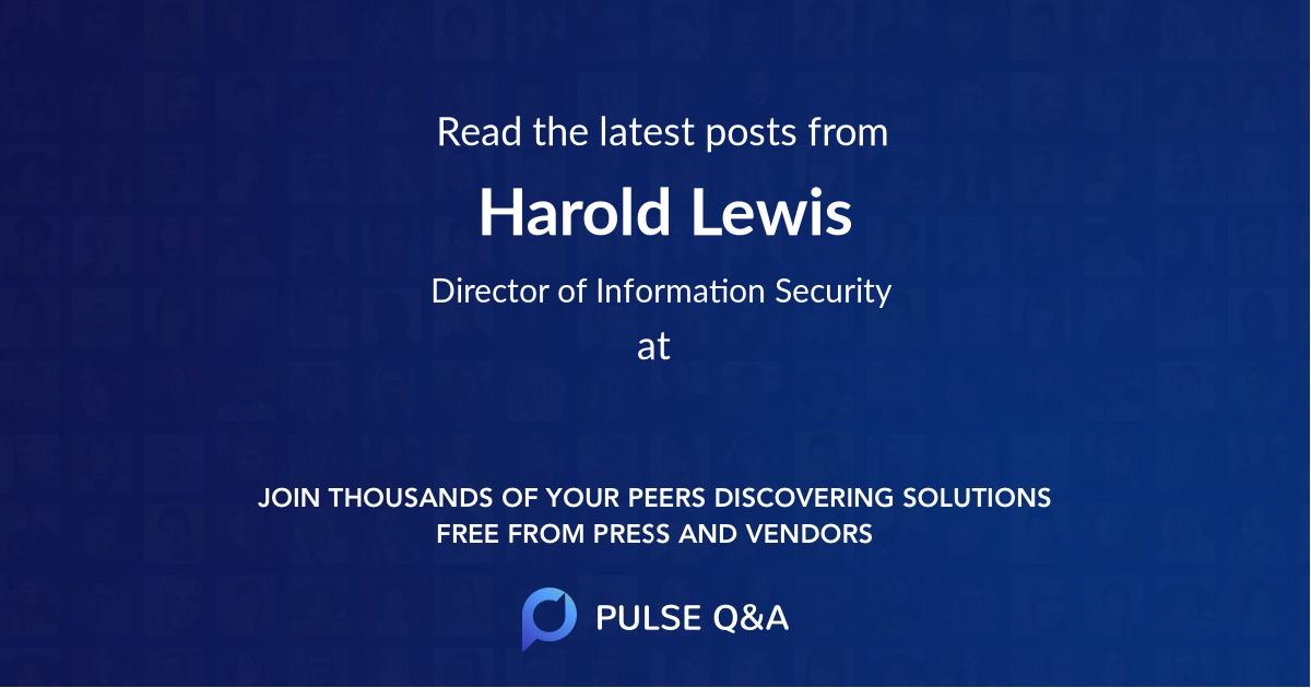 Harold Lewis