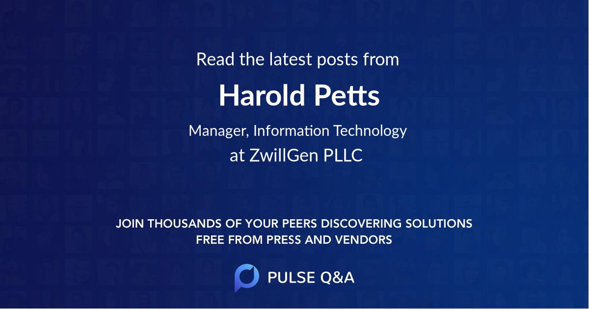 Harold Petts
