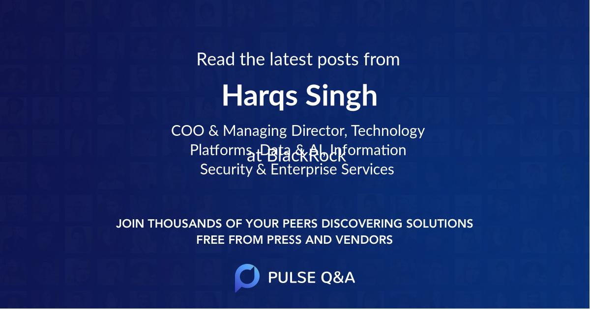 Harqs Singh