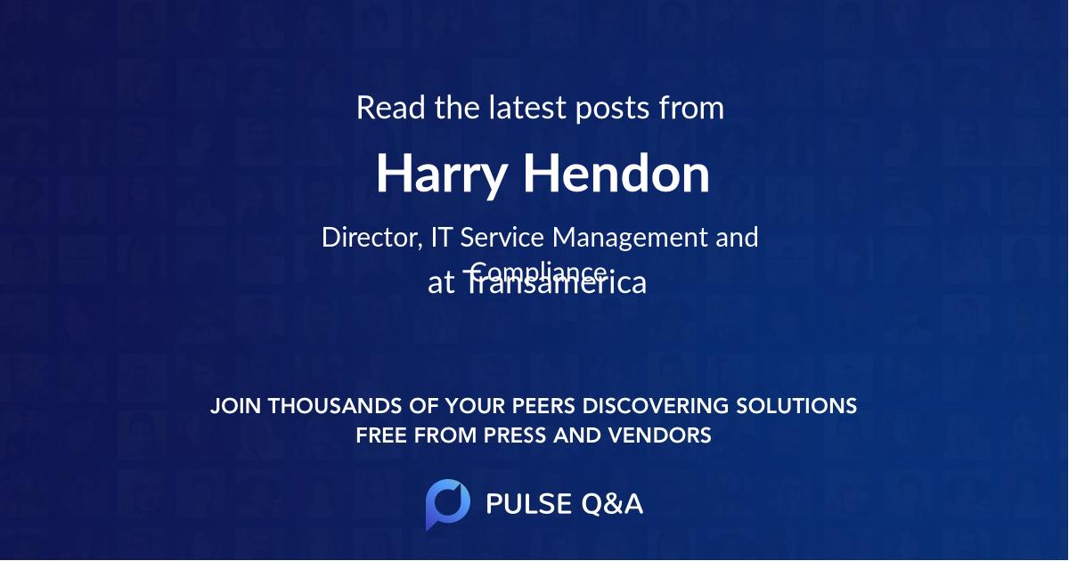 Harry Hendon