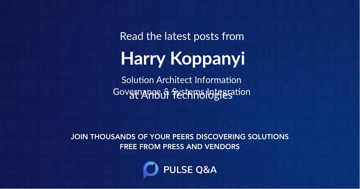 Harry Koppanyi