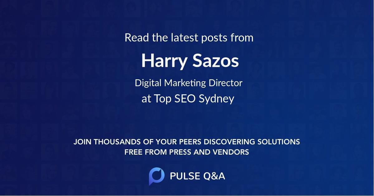 Harry Sazos