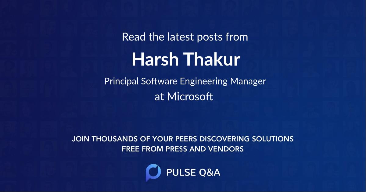 Harsh Thakur