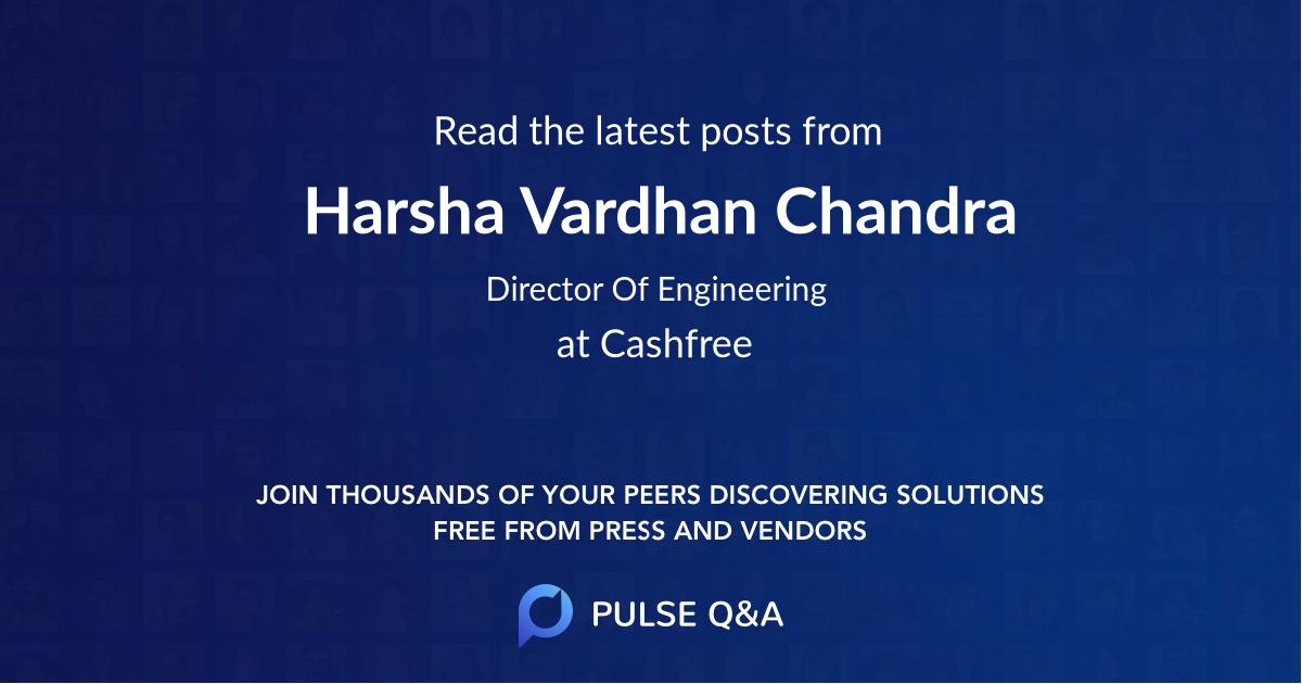 Harsha Vardhan Chandra