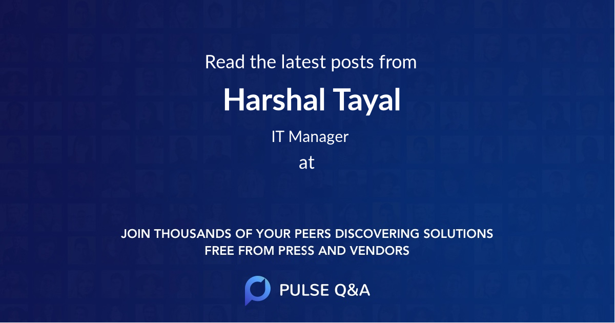 Harshal Tayal