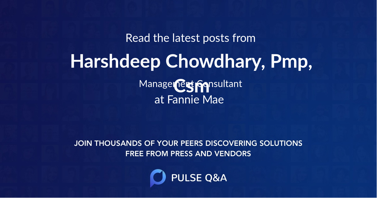 Harshdeep Chowdhary, Pmp, Csm