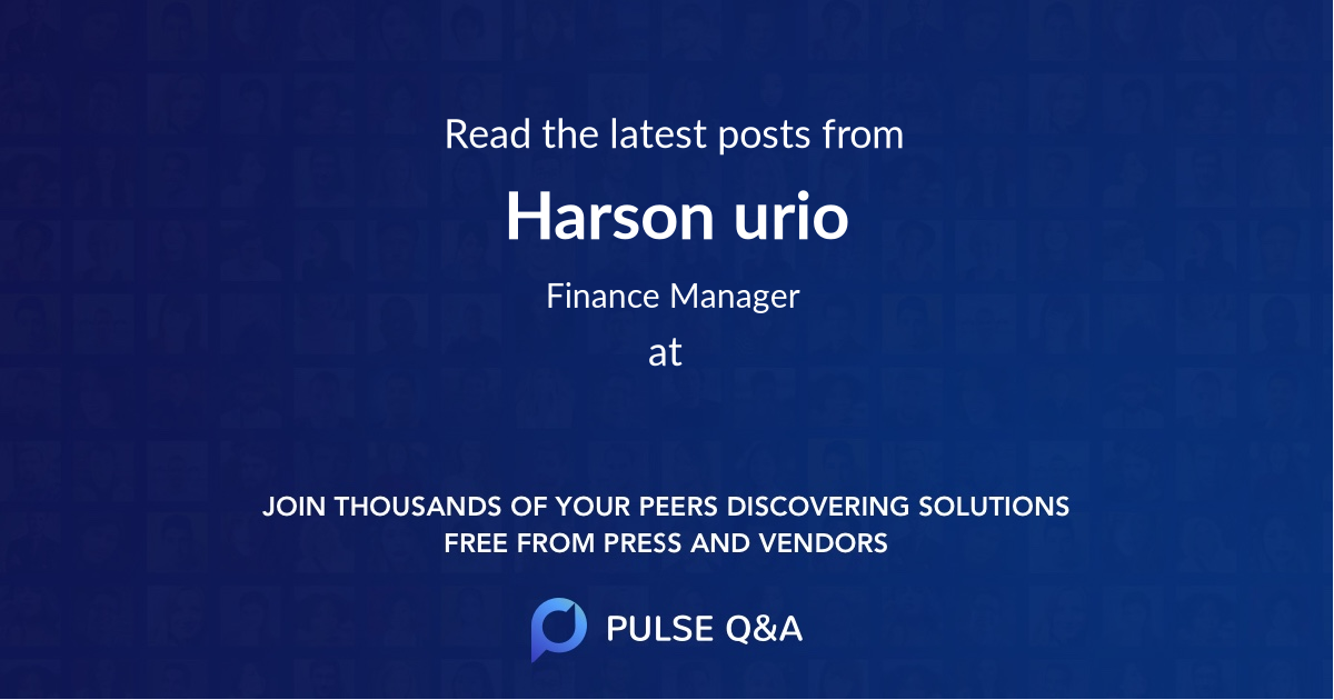 Harson urio