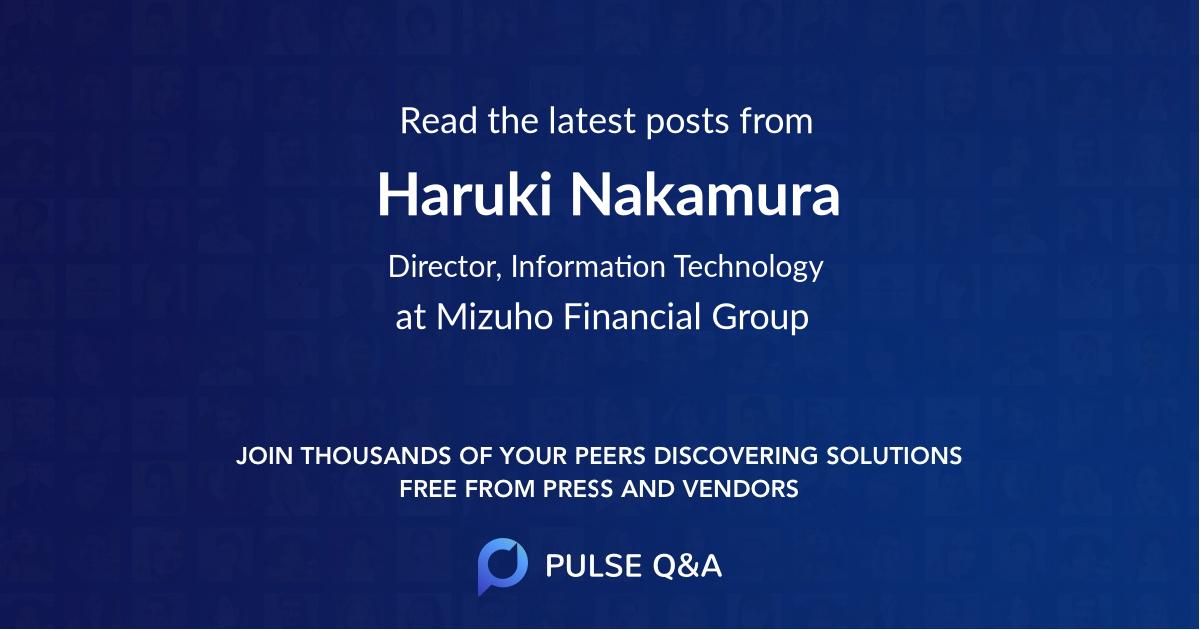 Haruki Nakamura