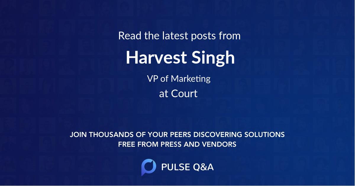 Harvest Singh