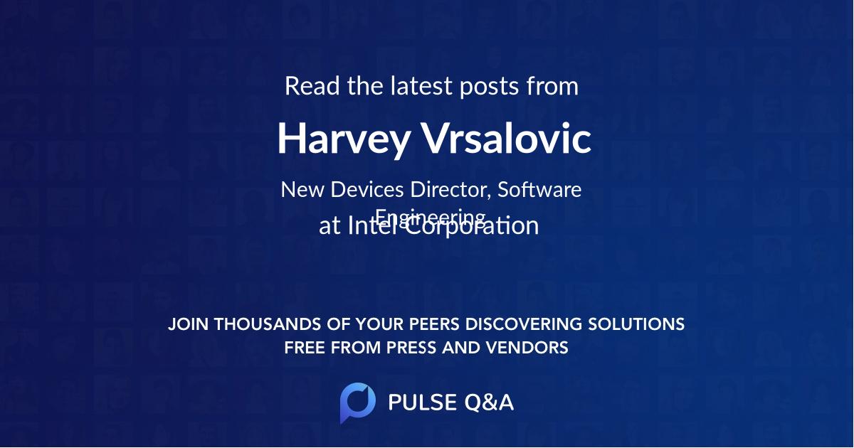 Harvey Vrsalovic