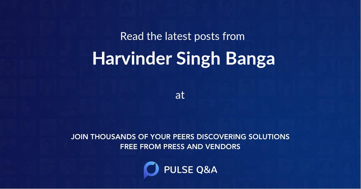 Harvinder Singh Banga