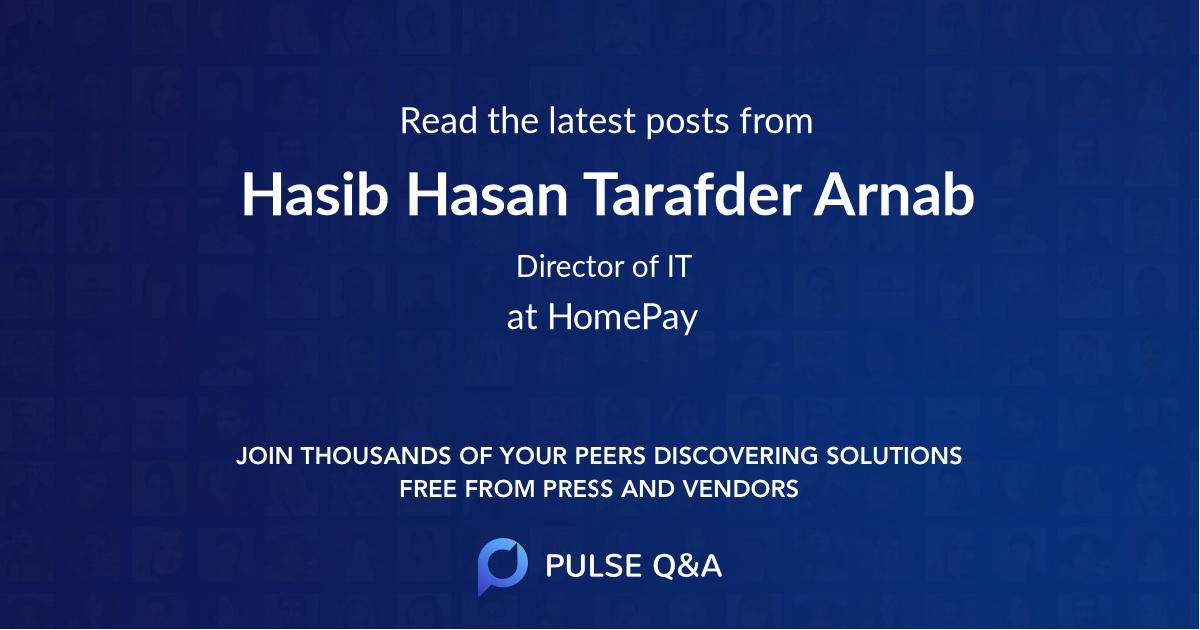 Hasib Hasan Tarafder Arnab