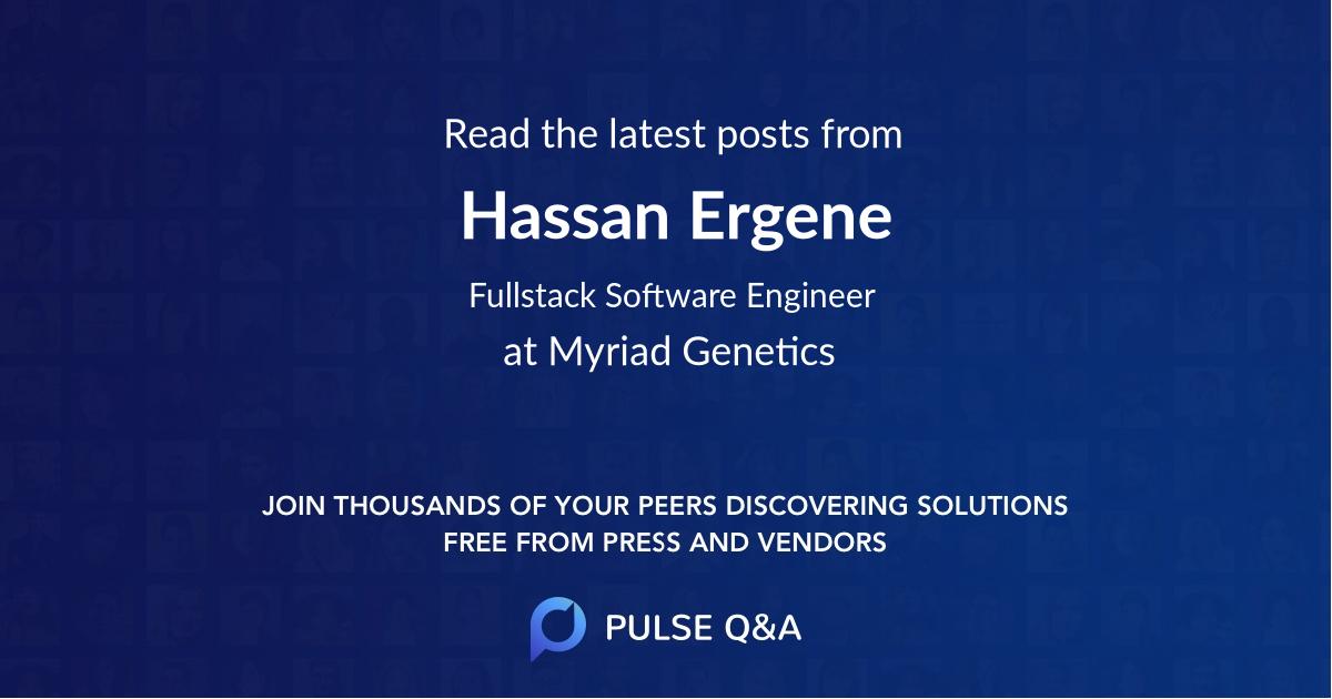 Hassan Ergene