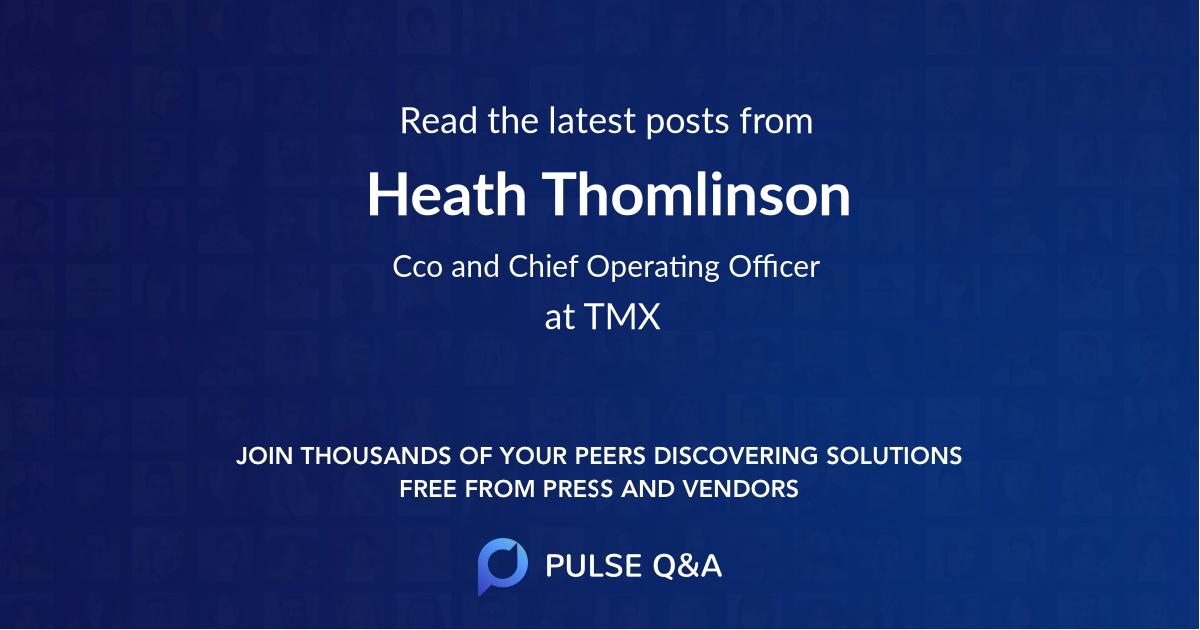 Heath Thomlinson