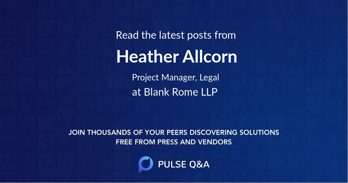 Heather Allcorn
