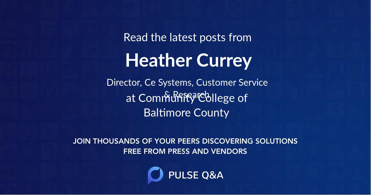 Heather Currey