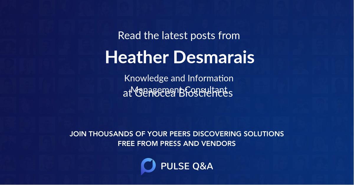Heather Desmarais