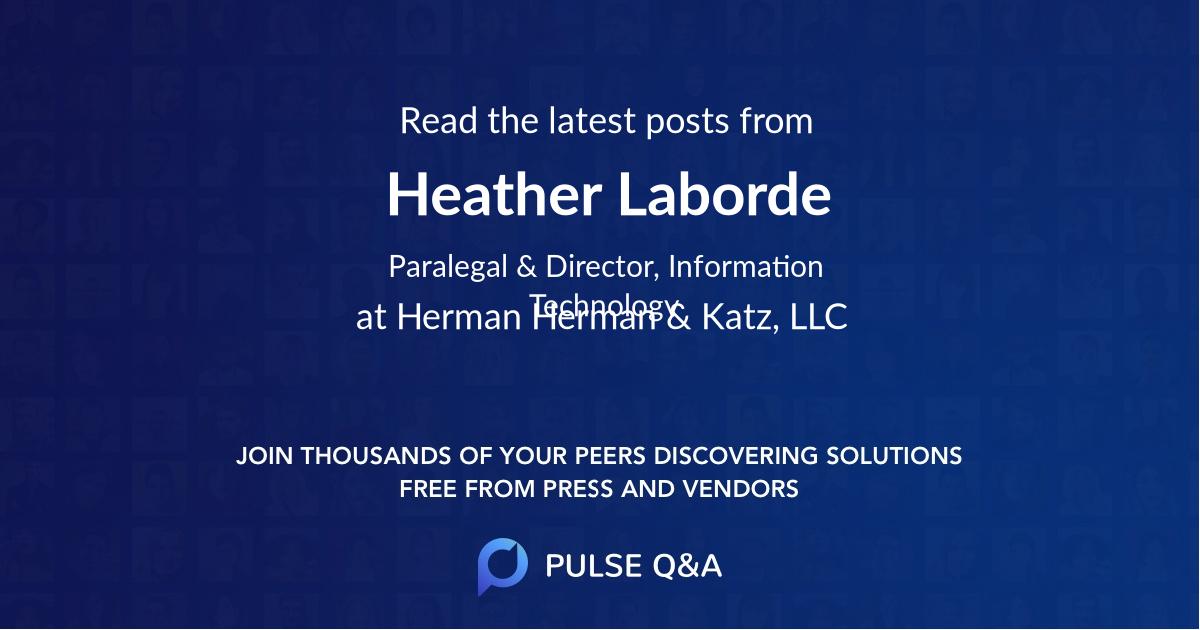 Heather Laborde