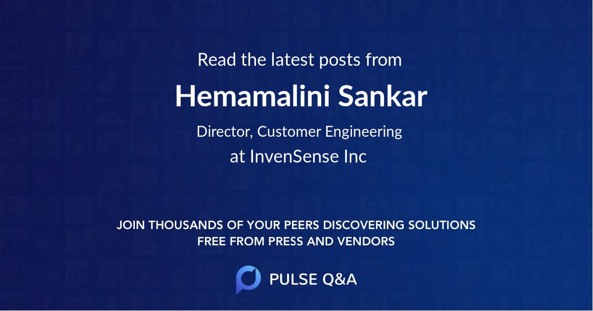 Hemamalini Sankar