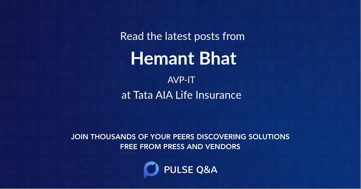 Hemant Bhat