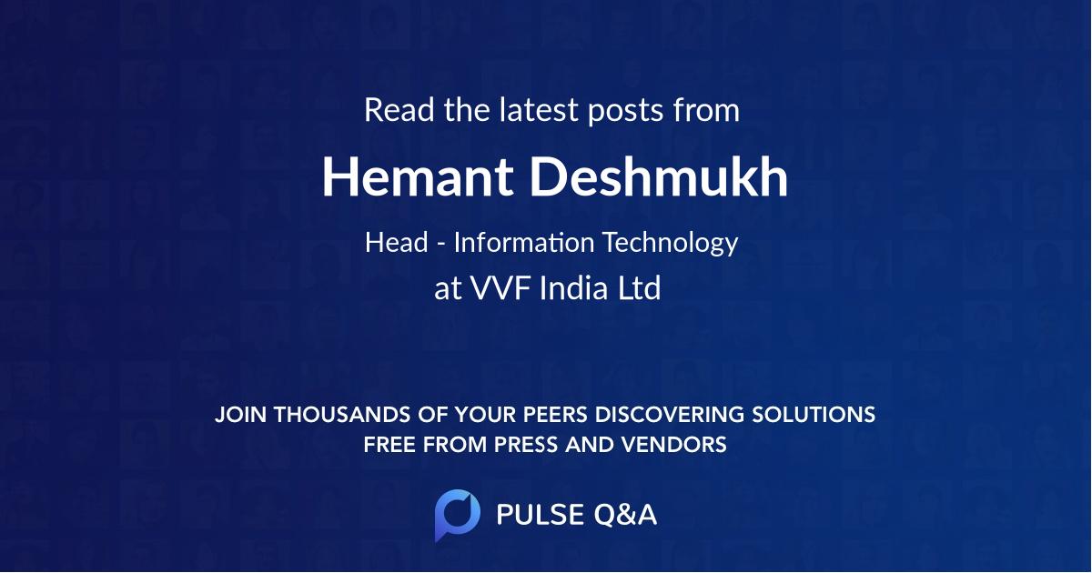 Hemant Deshmukh