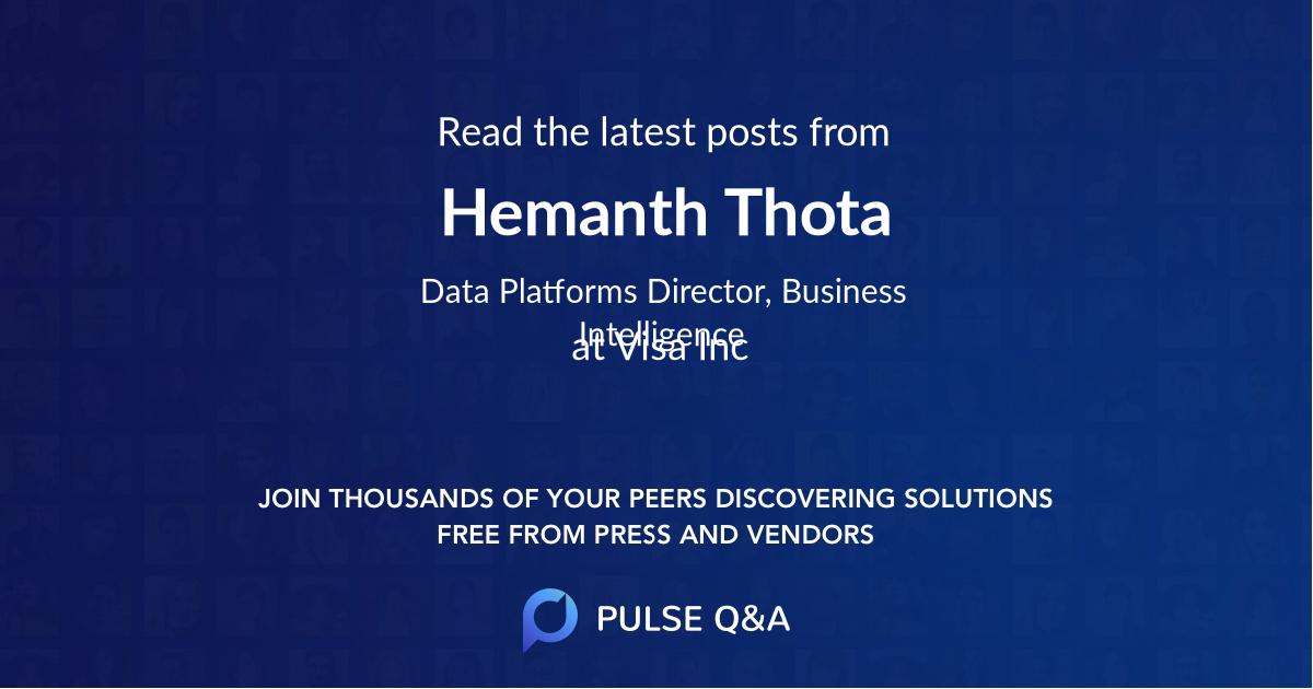Hemanth Thota