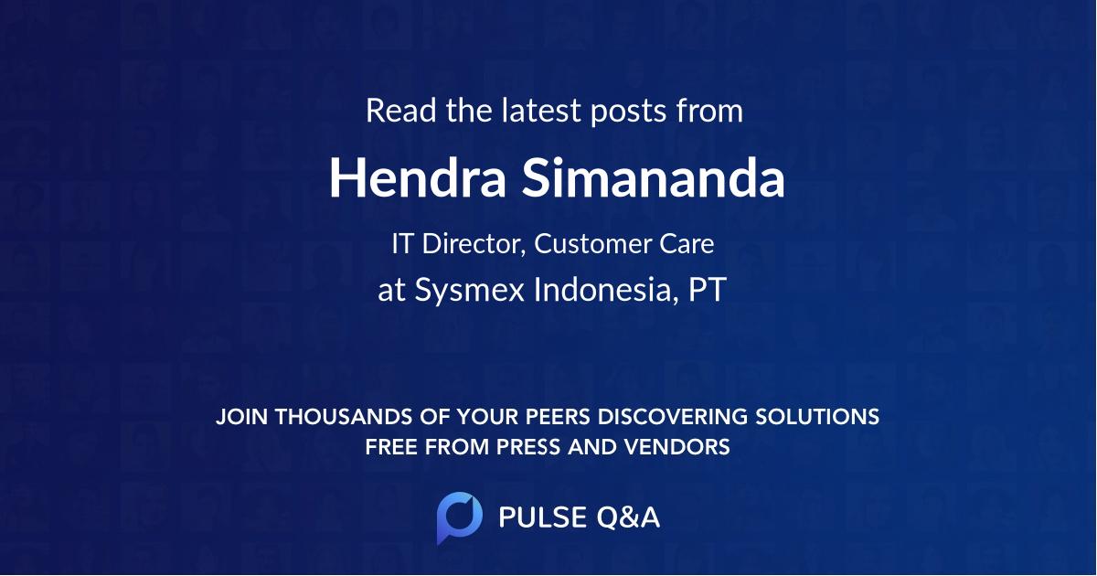 Hendra Simananda