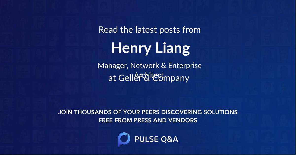 Henry Liang