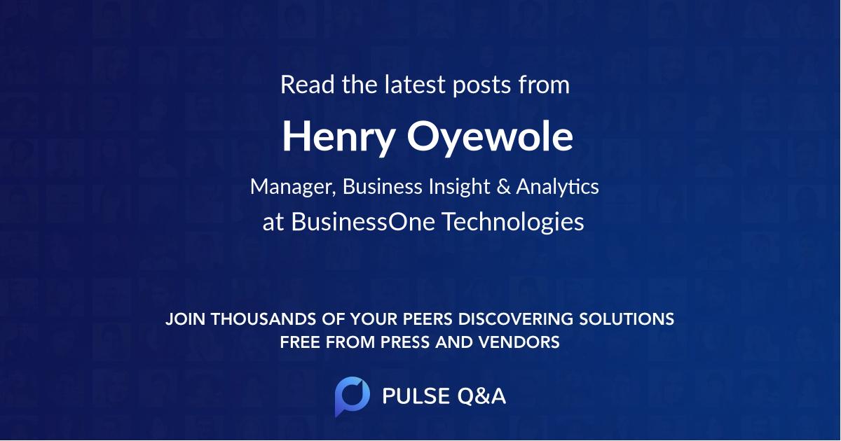 Henry Oyewole