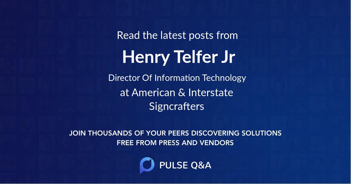 Henry Telfer Jr.