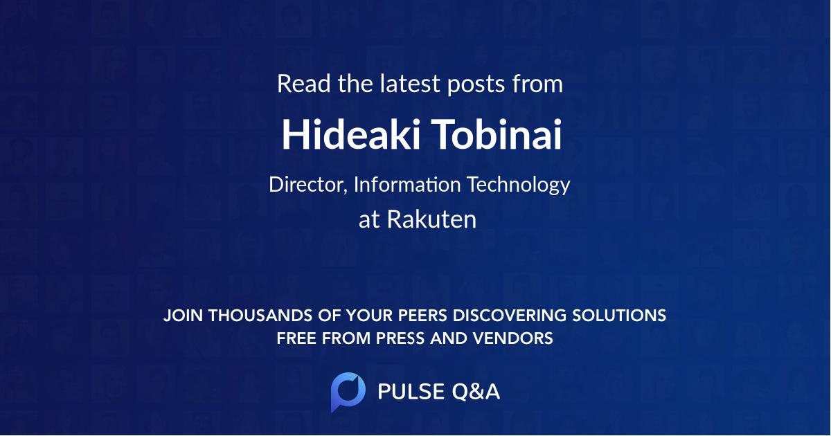 Hideaki Tobinai
