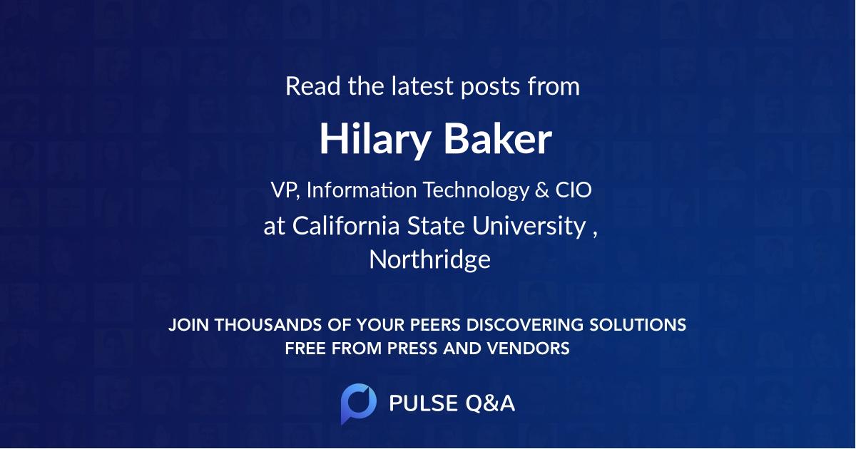 Hilary Baker