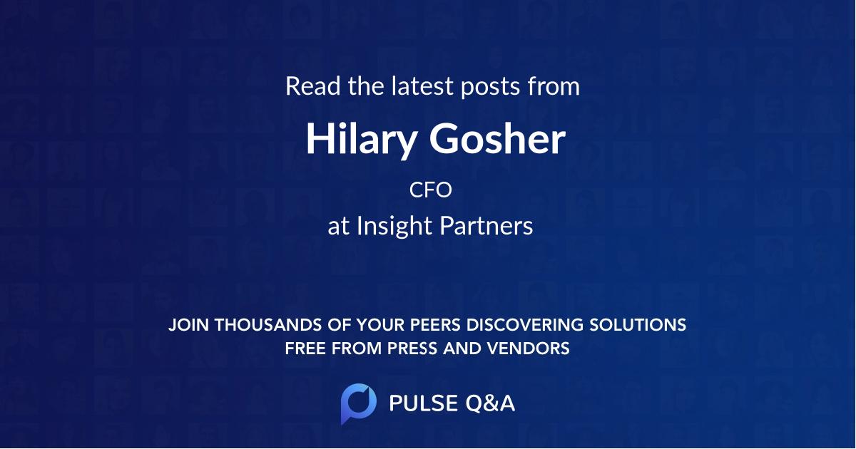 Hilary Gosher