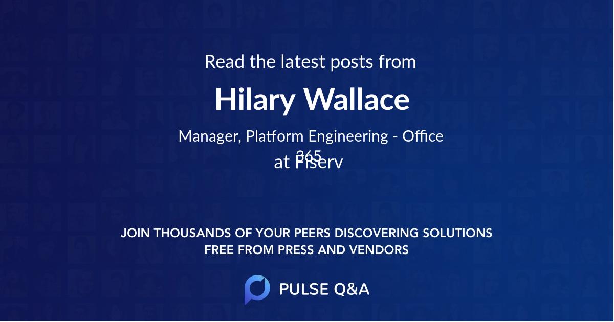 Hilary Wallace