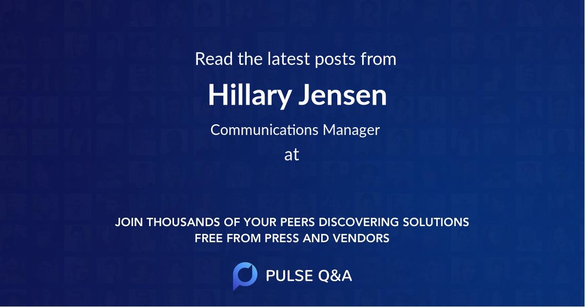 Hillary Jensen