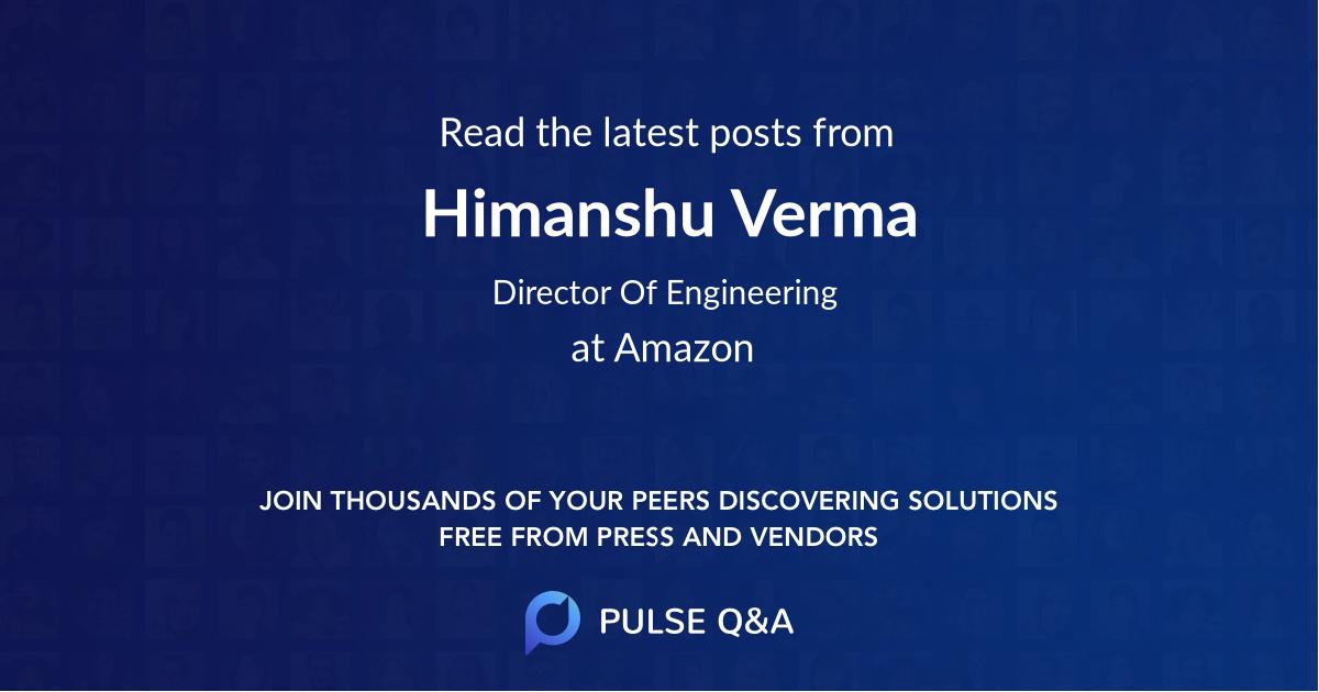 Himanshu Verma