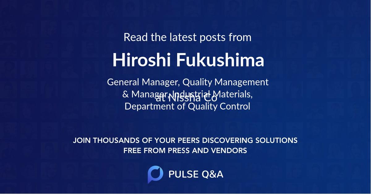 Hiroshi Fukushima