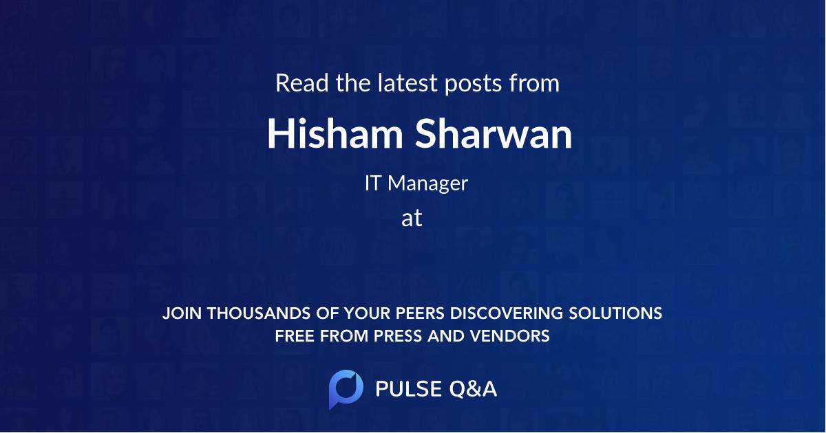 Hisham Sharwan