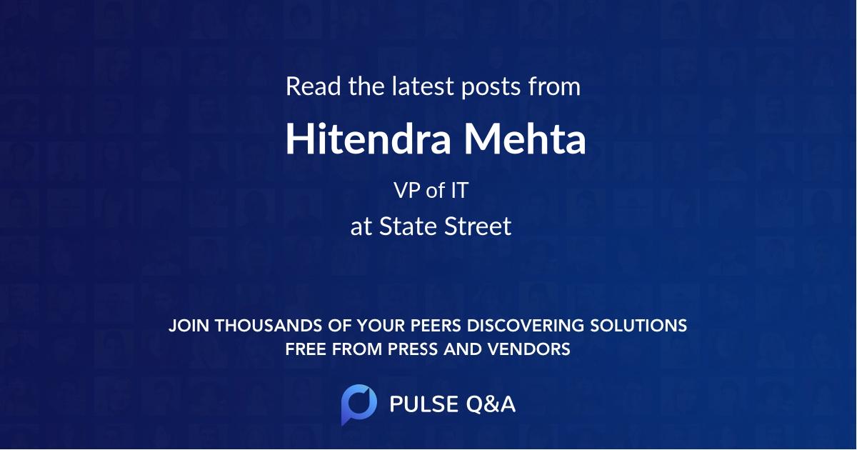 Hitendra Mehta