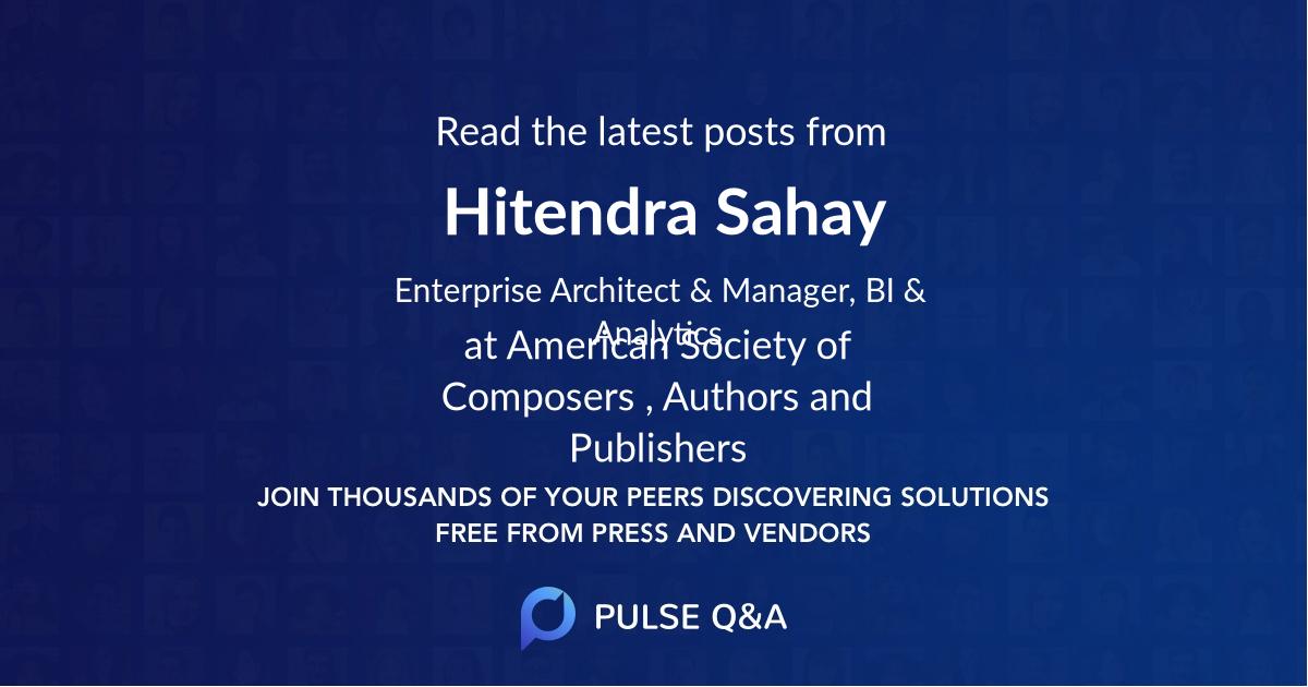 Hitendra Sahay