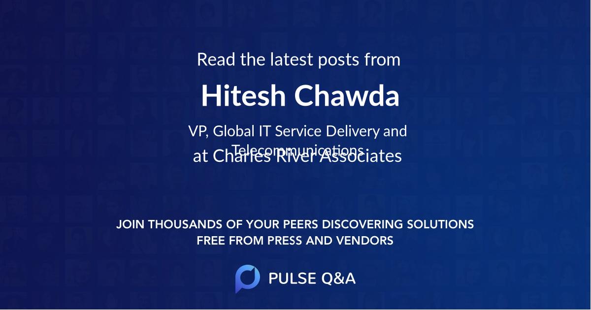 Hitesh Chawda