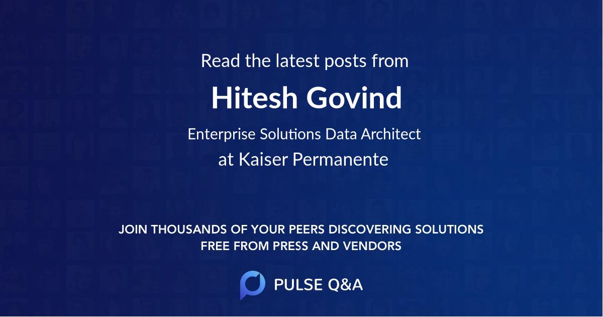 Hitesh Govind