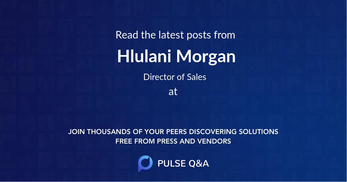 Hlulani Morgan
