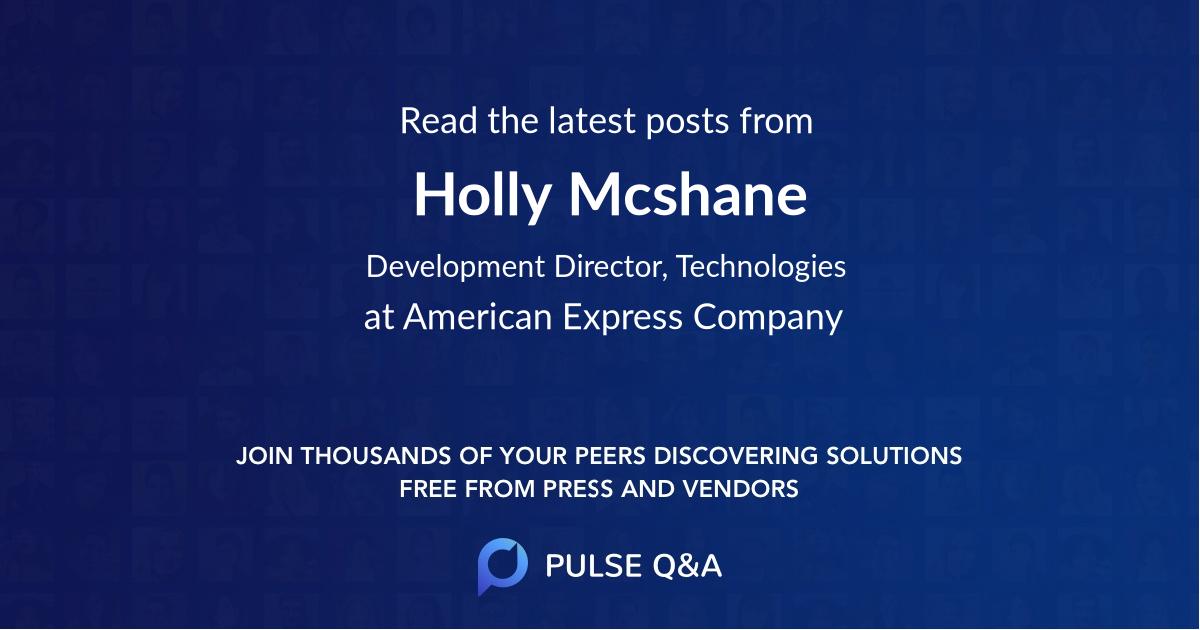 Holly Mcshane