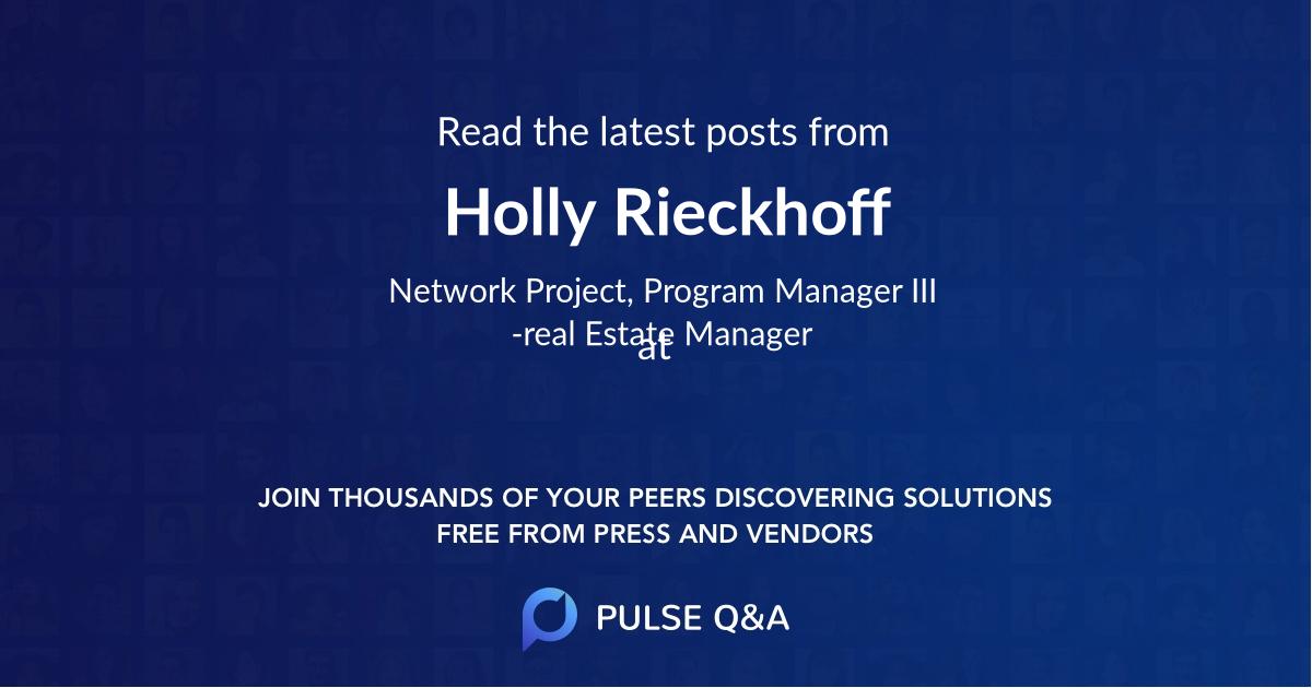 Holly Rieckhoff