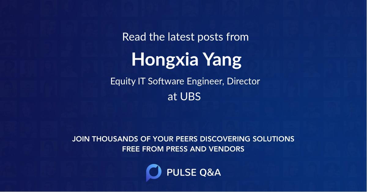 Hongxia Yang