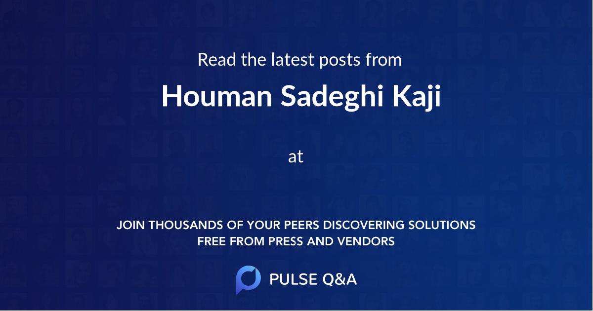 Houman Sadeghi Kaji