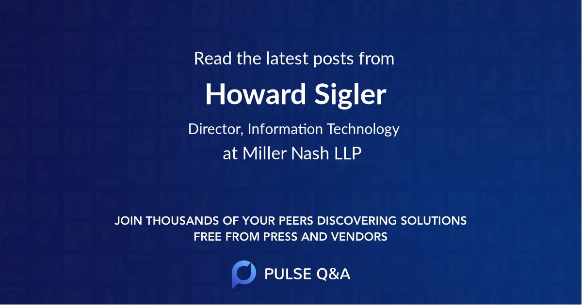 Howard Sigler